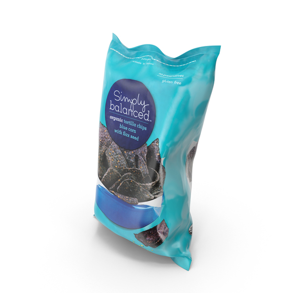 Simply Balanced Tortilla Blue Corn Chips PNG & PSD Images