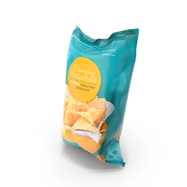 Simply Balanced Tortilla Yellow Corn Chips PNG & PSD Images