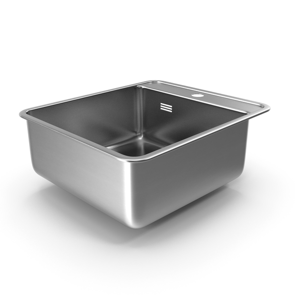 Kitchen: Single Bowl Stainless Steel Inset Sink PNG & PSD Images