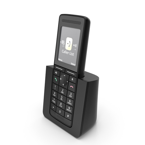 Single Cordless DECT Home Phone with Charger PNG & PSD Images