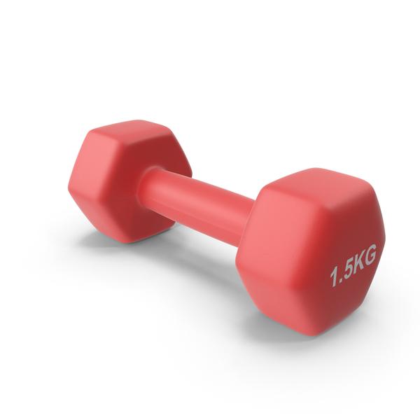 Dumbbell: Single Fitness Dumbbells 1.5kg PNG & PSD Images
