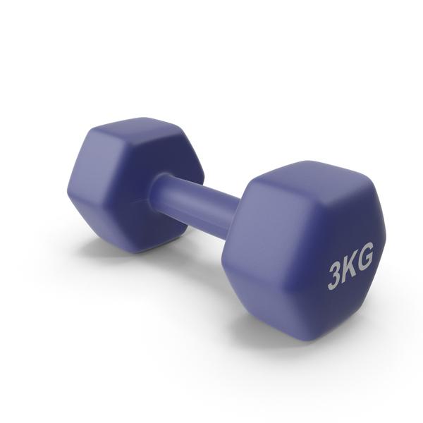 Dumbbell: Single Fitness Dumbbells 3kg PNG & PSD Images