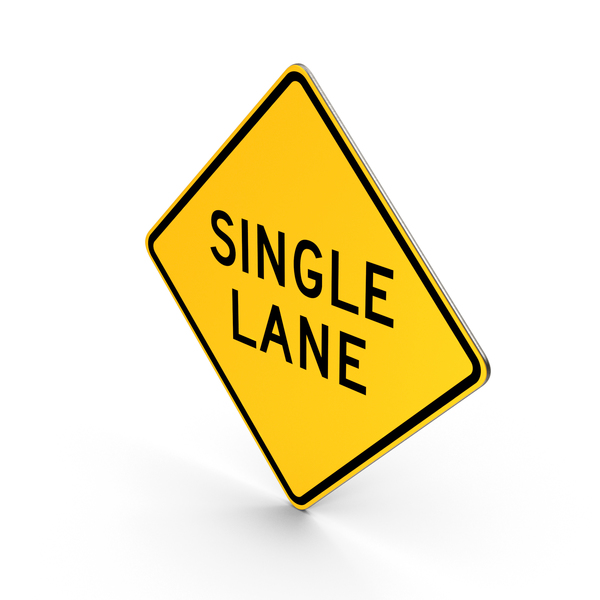 Traffic Signs: Single Lane New York State Road Sign PNG & PSD Images