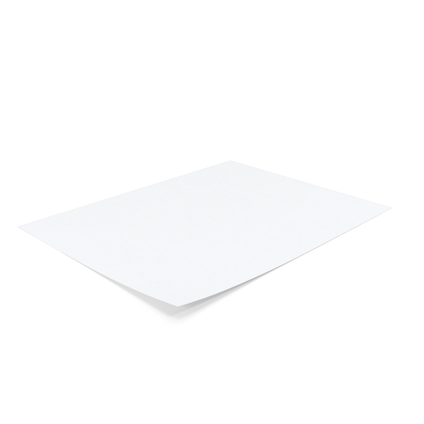 Single Paper Sheet Object