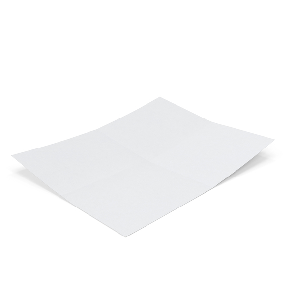 Single Paper Sheet Fold Creased PNG & PSD Images