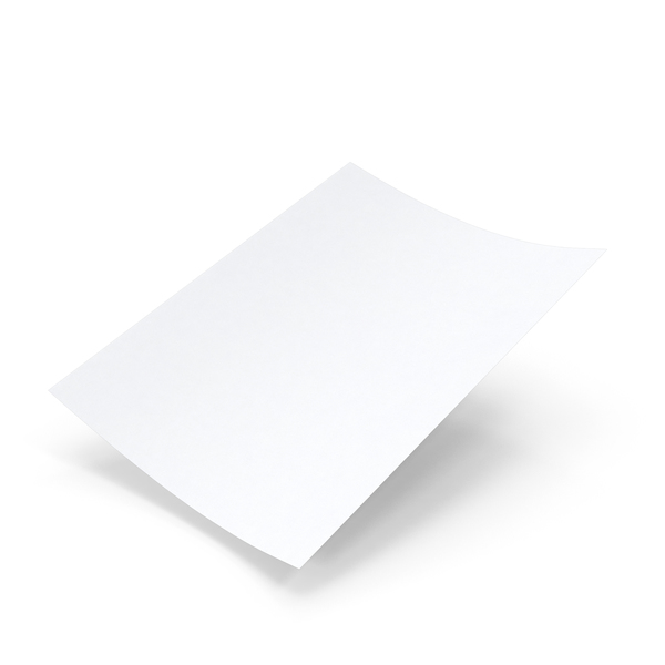 Single Paper Sheet Mockup Object