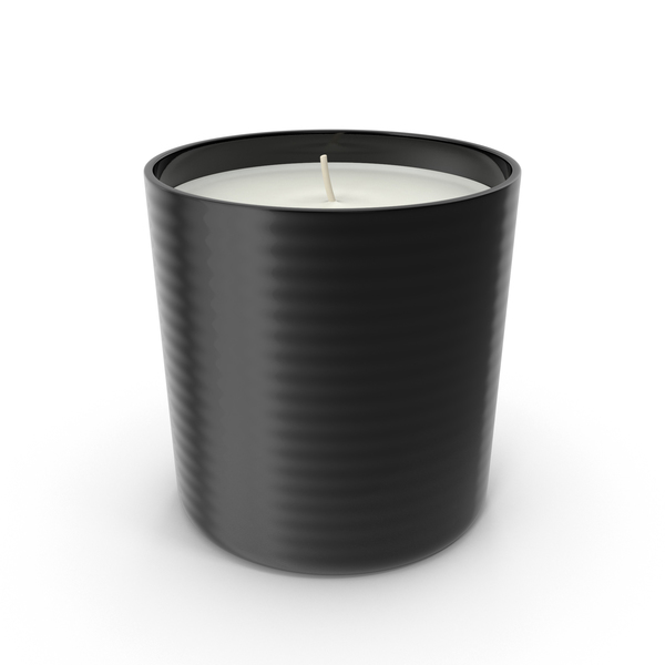 Single Wick Scented Candle Black PNG & PSD Images