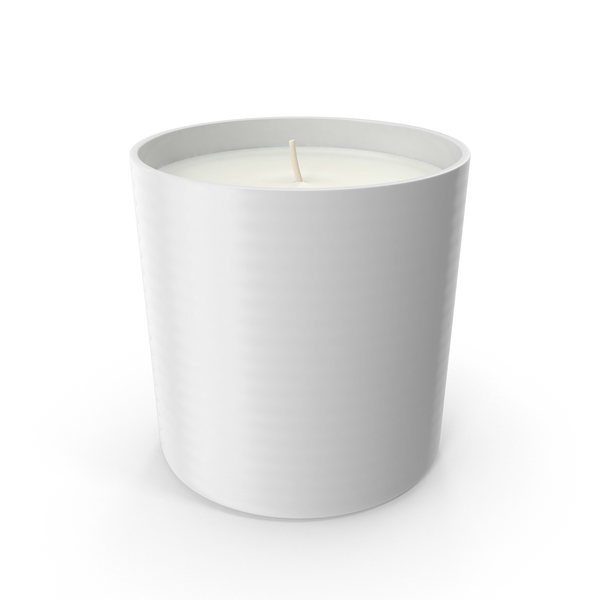Single Wick Scented Candles  White PNG & PSD Images