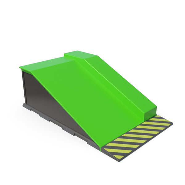 Skate Board Ramps Green Part PNG & PSD Images