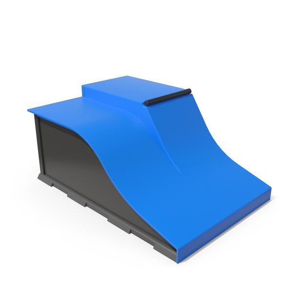 Skate: SkateBoard Ramp Blue PNG & PSD Images