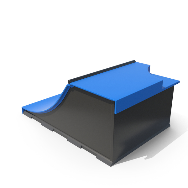Skateboard Ramps Blue PNG & PSD Images