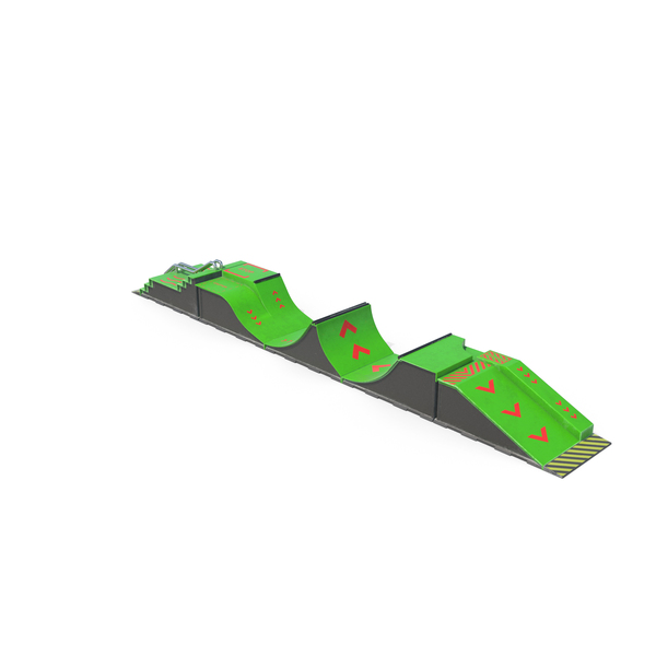 SkateBoard Ramps Green PNG & PSD Images