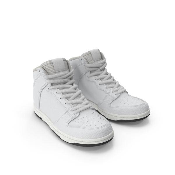 High Top Sneakers: Skateboard Shoes White PNG & PSD Images