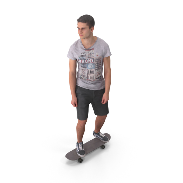 Skateboarder Teenager Posed PNG & PSD Images