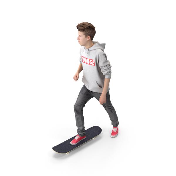 Skateboarder Teenager Posed PNG & PSD Images