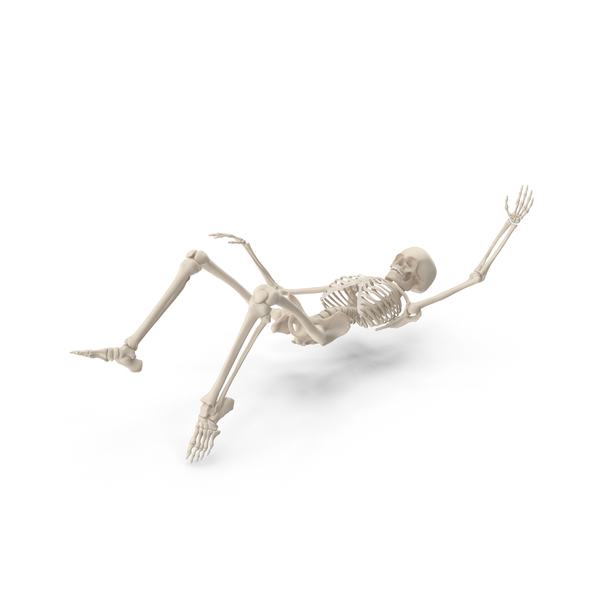 Male: Skeleton Falling PNG & PSD Images