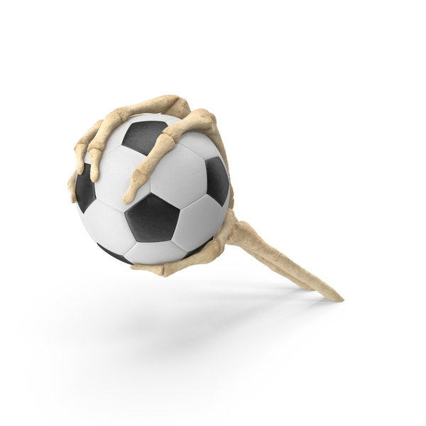 Skeleton Hand Grabbing a Small Soccer Ball PNG & PSD Images