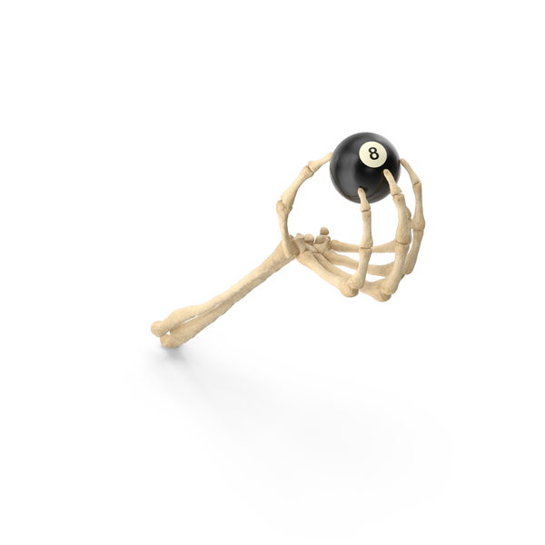 Skeleton Hand Holding 8 Ball PNG & PSD Images