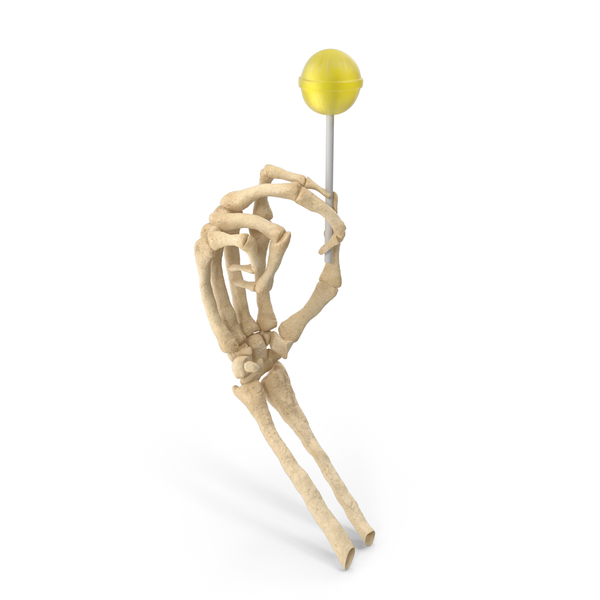 Skeleton Hand Holding a Lollipop PNG & PSD Images