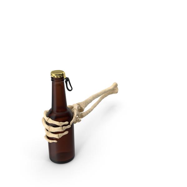 Skeleton Hand Holding Beer Bottle PNG & PSD Images