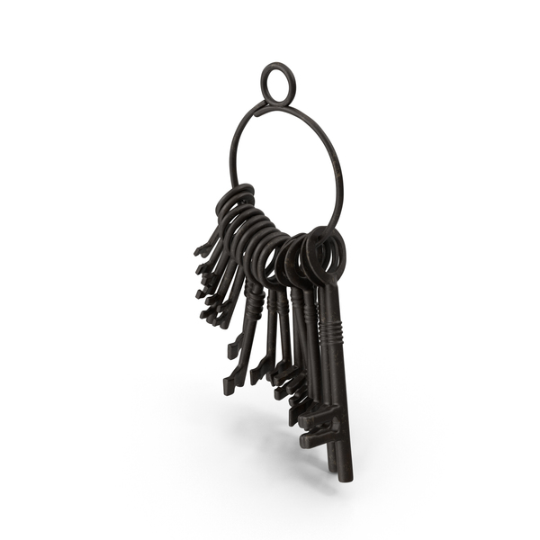 Key: Skeleton Jailer Keys PNG & PSD Images