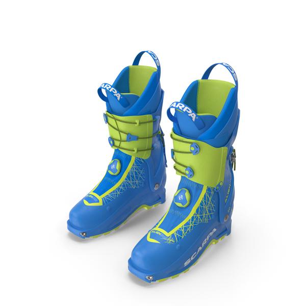 Ski Boots Blue PNG & PSD Images