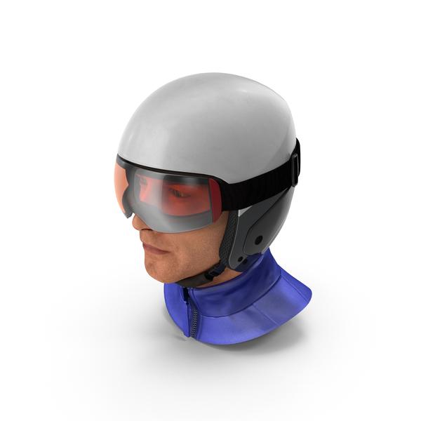 Male: Skier Head in Helmet PNG & PSD Images