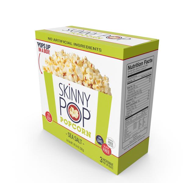 SkinnyPop Sea Salt Microwave Popcorn PNG & PSD Images