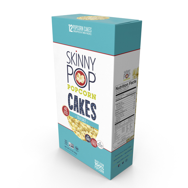 SkinnyPop Sea Salt Popcorn Cakes PNG & PSD Images