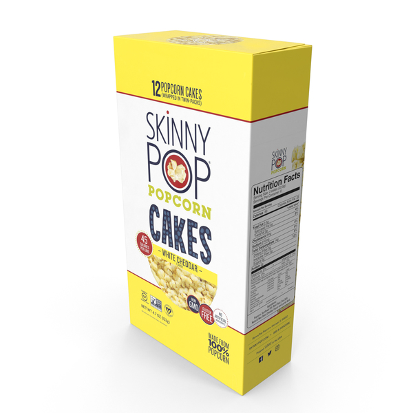 SkinnyPop White Cheddar Popcorn Cakes PNG & PSD Images