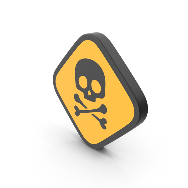 Caution: Skull Danger Sign PNG & PSD Images