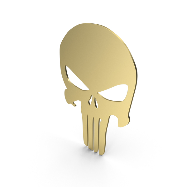 Skull Figure Gold PNG & PSD Images