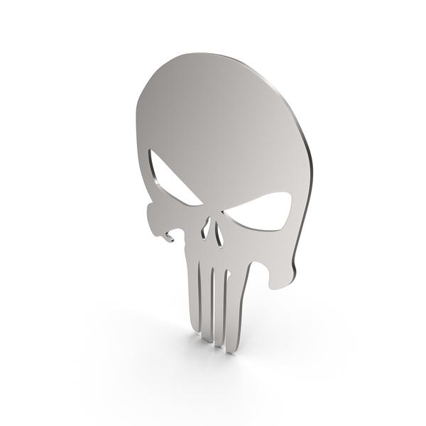Symbols: Skull Figure Metal PNG & PSD Images
