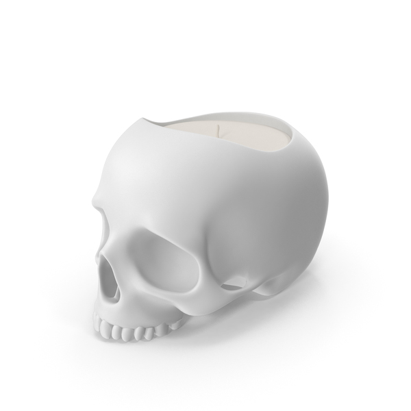 Halloween Decoration: Skull Head Candle PNG & PSD Images