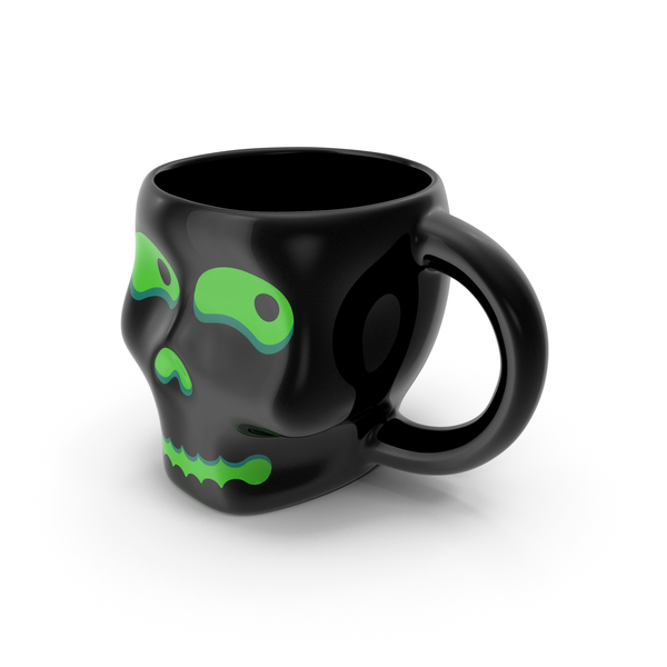 Zarf: Skull Mug Green PNG & PSD Images