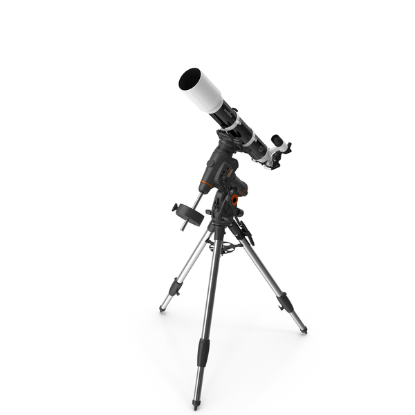 Optical: Sky-Watcher 120ED Telescope with Celestron Equatorial Mount Tripod PNG & PSD Images