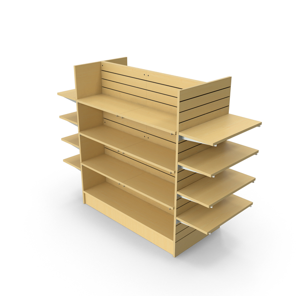 Display Stand: Slat Wall Shelves PNG & PSD Images