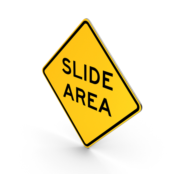 Slide Area California Road Sign PNG & PSD Images
