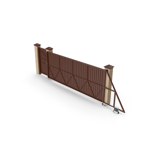 Automatic Gate: Sliding Brown Driveway Gates Object