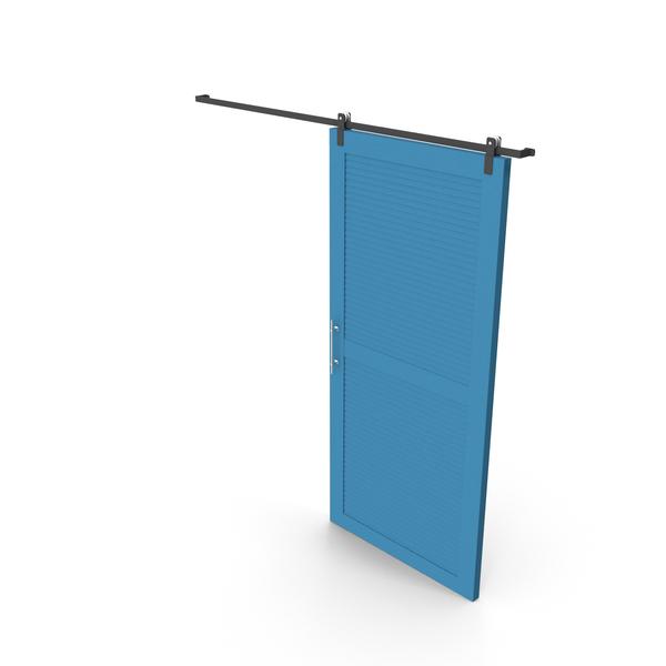 Sliding Door Blue PNG & PSD Images