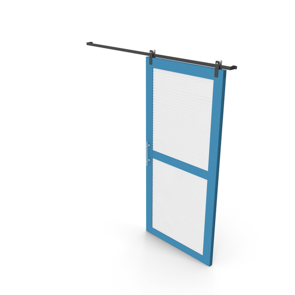 Sliding Door White and Blue PNG & PSD Images