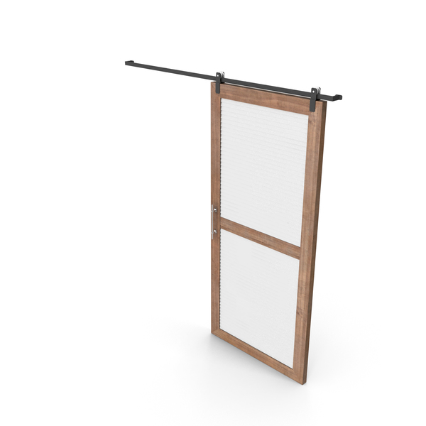 Sliding Door Wood and White PNG & PSD Images