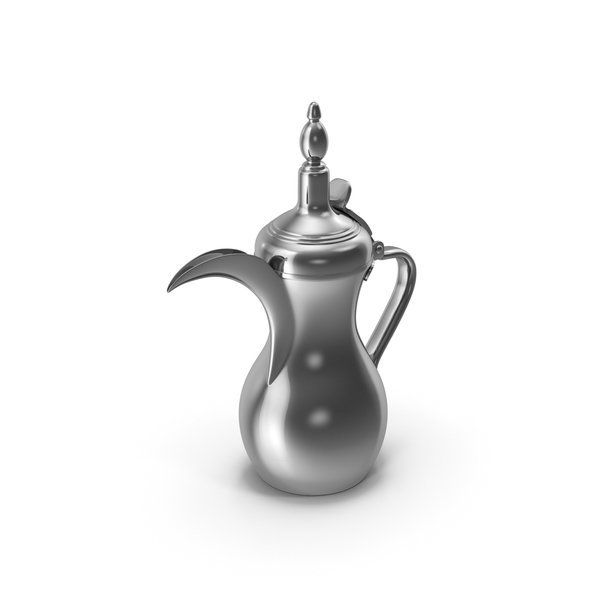 Sliver Arabic Dallah Coffee Pot PNG & PSD Images