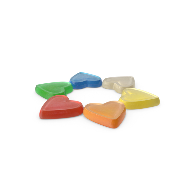 Small Circle of Gummy Heart Candy PNG & PSD Images