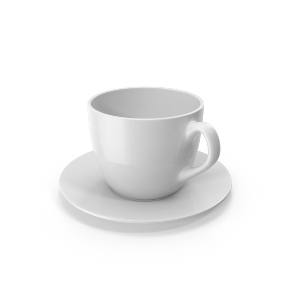 Coffee: Small Cup with White Plate PNG & PSD Images