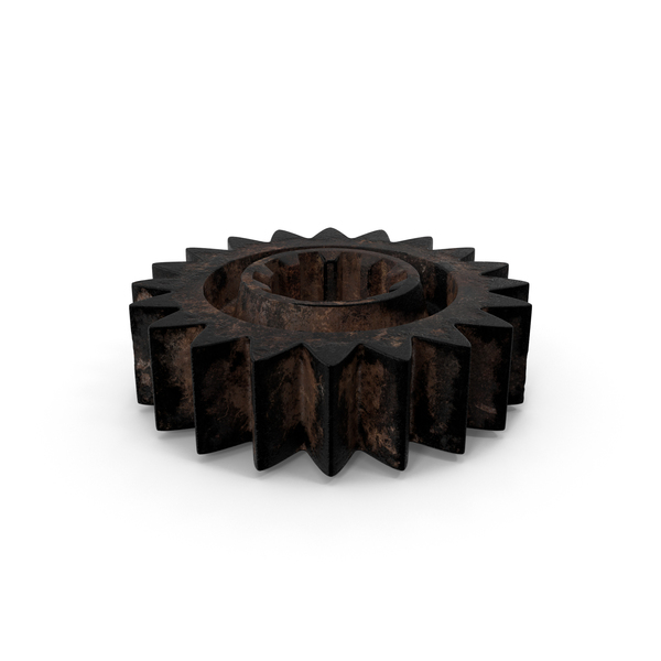 Small Dirty Gear Object