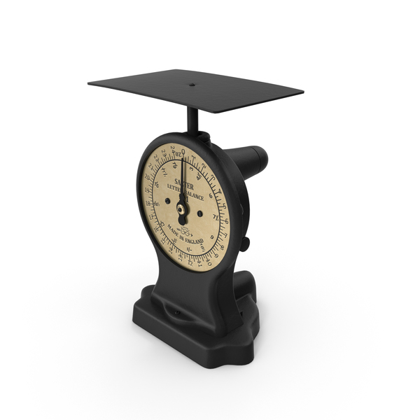 Balance Scale: Small English Salter Postage Scales Object