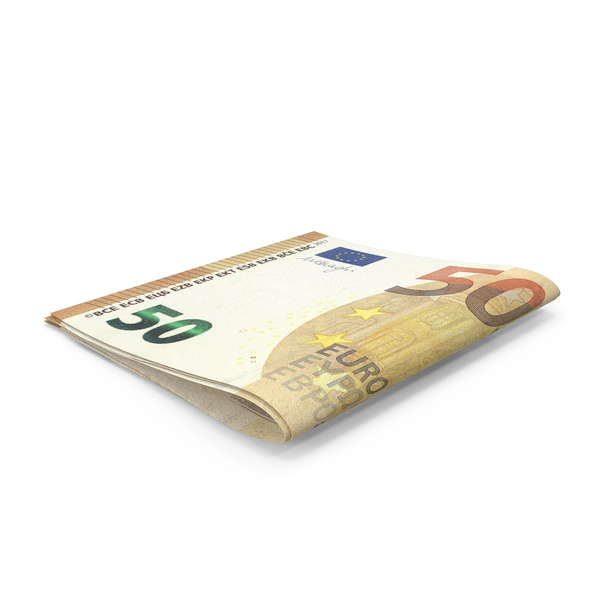 Small Folded Stack of 50 Euro Banknote Bills PNG & PSD Images