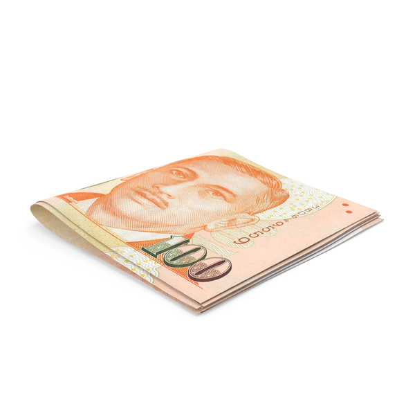 Small folded Stack of Singapore Dollar Banknote Bills PNG & PSD Images