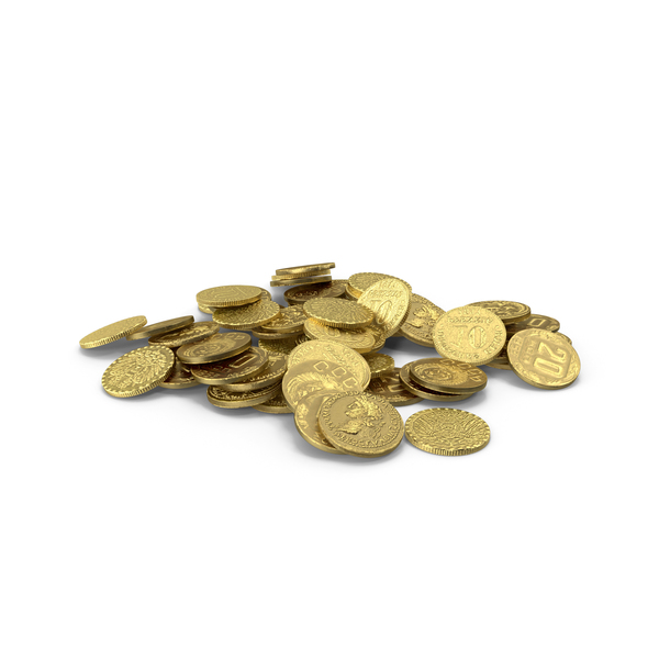 Coin: Small Gold Coins Pile PNG & PSD Images